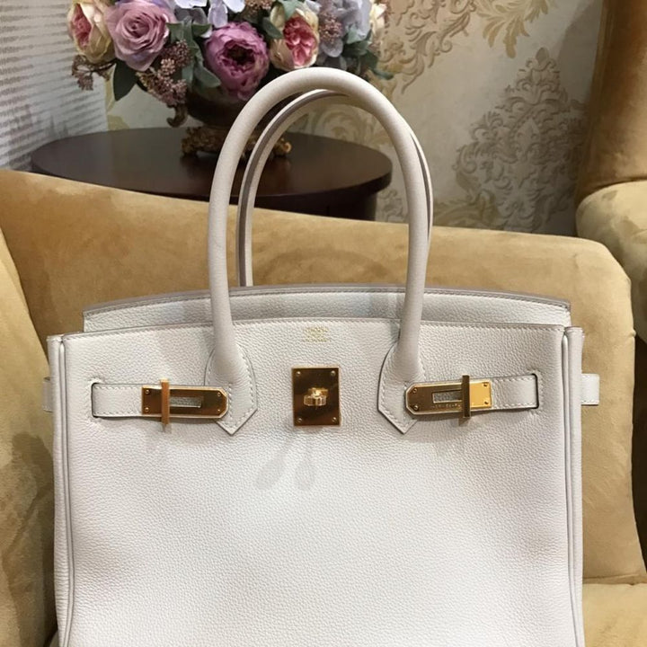Hermès Birkin 30 Craie Togo Gold Hardware GHW C Stamp 2018 - The French Hunter