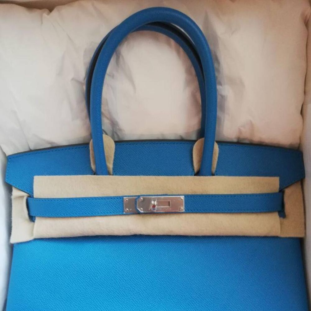 Hermès Birkin 30 Bleu Zanzibar Epsom Palladium Hardware PHW C Stamp 2018 - The French Hunter