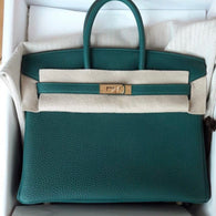 38e557ed14 Hermès Birkin 25 Malachite Togo Gold Hardware GHW C Stamp 2018 - The French  Hunter