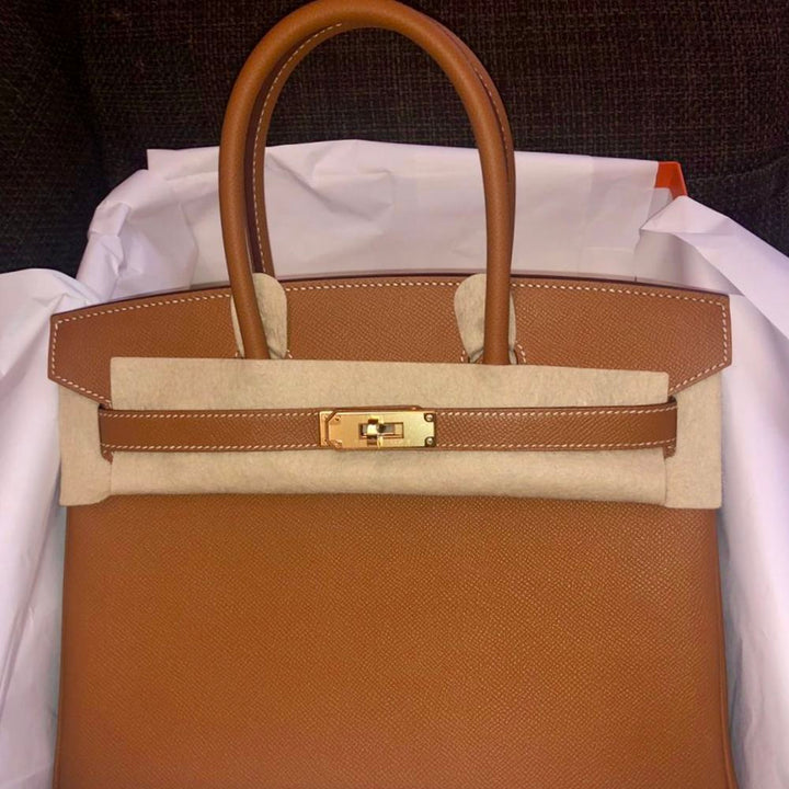 Hermès Birkin 30 Gold Epsom Gold Hardware GHW C Stamp 2018 - The French Hunter