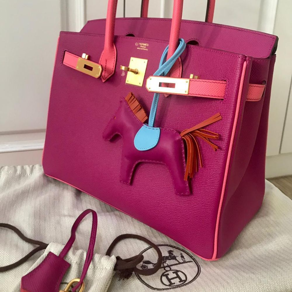 Hermès Birkin HSS 30 Rose Pourpre/Rose Confetti Epsom Brushed Gold Hardware BGHW