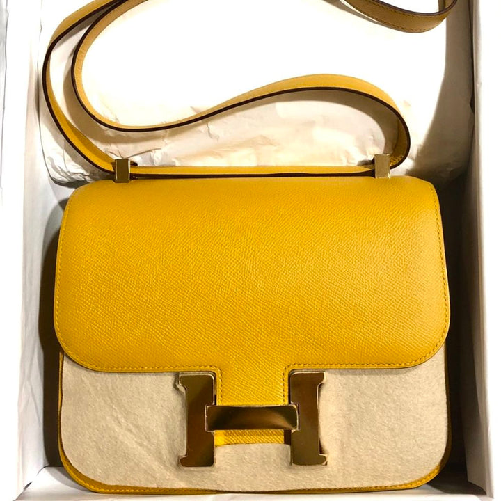2b55a56f26be Hermès Constance 24 Jaune Ambre Epsom Gold Hardware GHW C Stamp 2018 ...