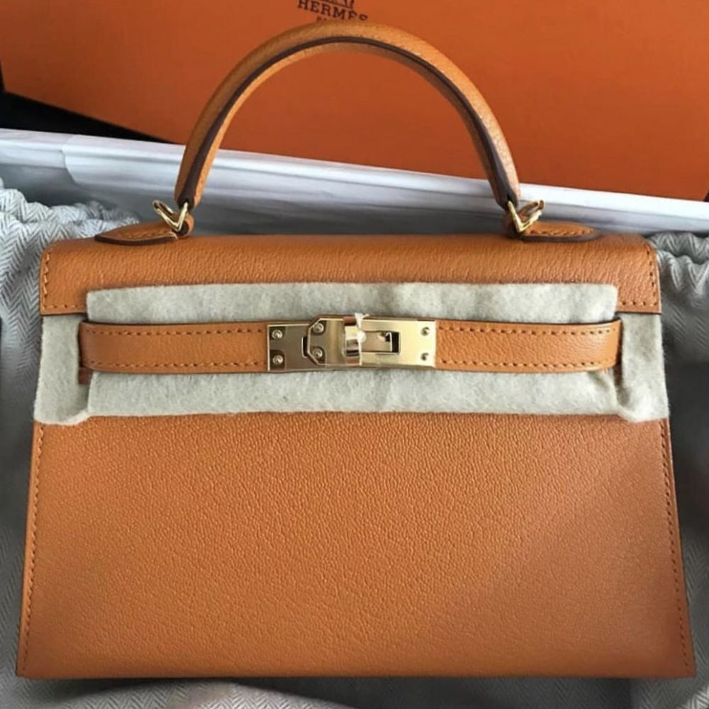 Hermès Kelly 20 Abricot Sellier Epsom Gold Hardware GHW