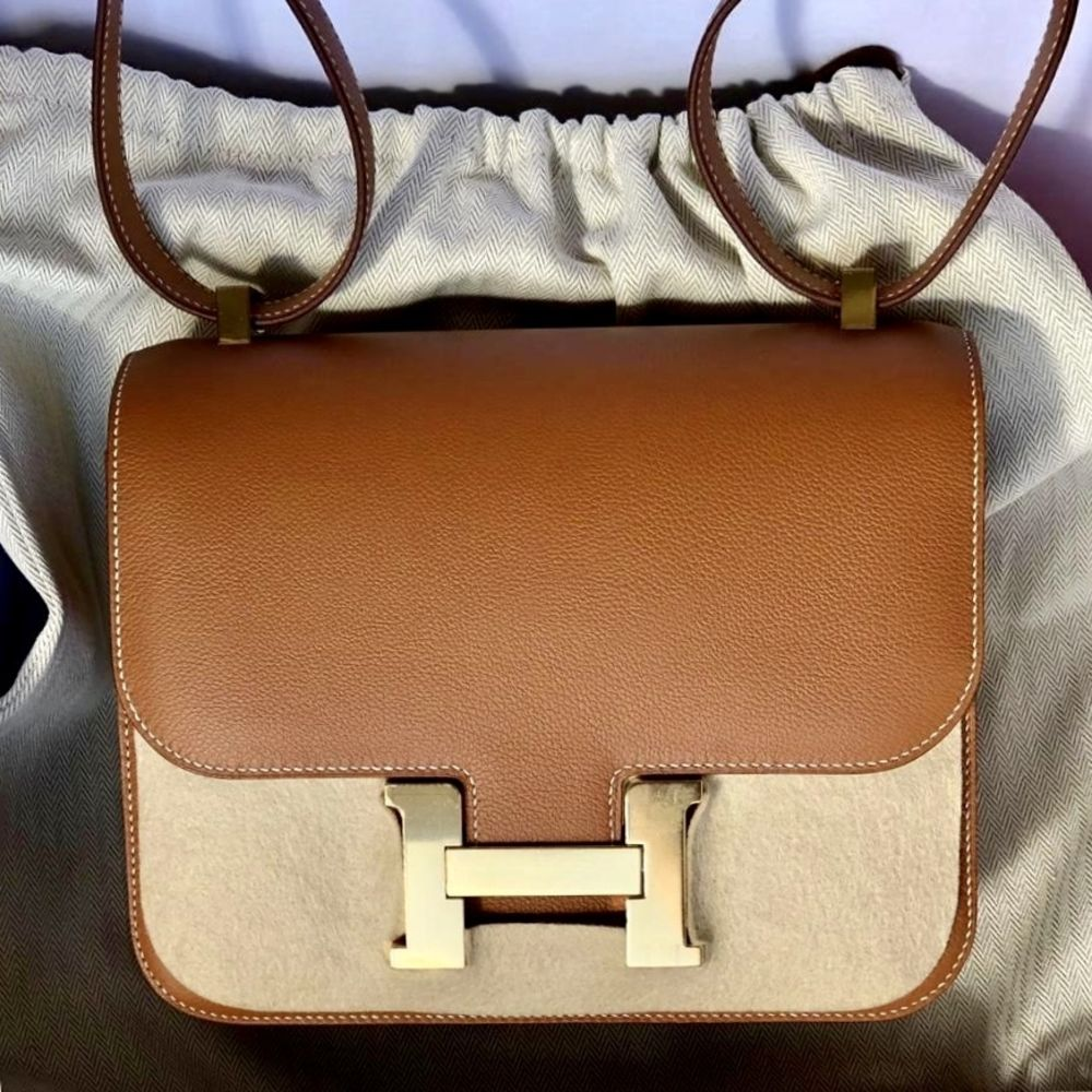 Hermès Constance 24 Gold Evercolor Gold Hardware GHW