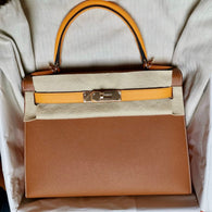 Hermès Kelly HSS 28 Gold/Jaune d'Or Sellier Epsom Permabrass Hardware PER