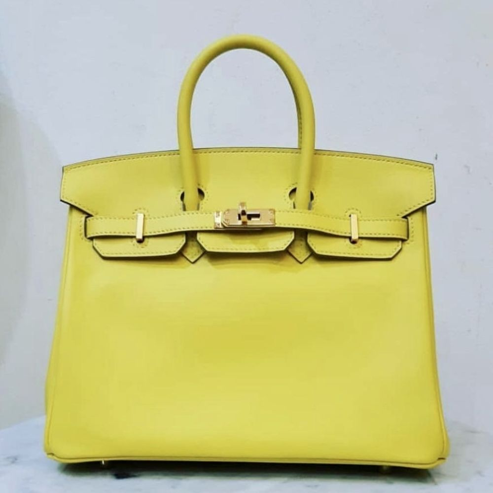 Hermès Birkin 25 Lime Swift Gold Hardware GHW