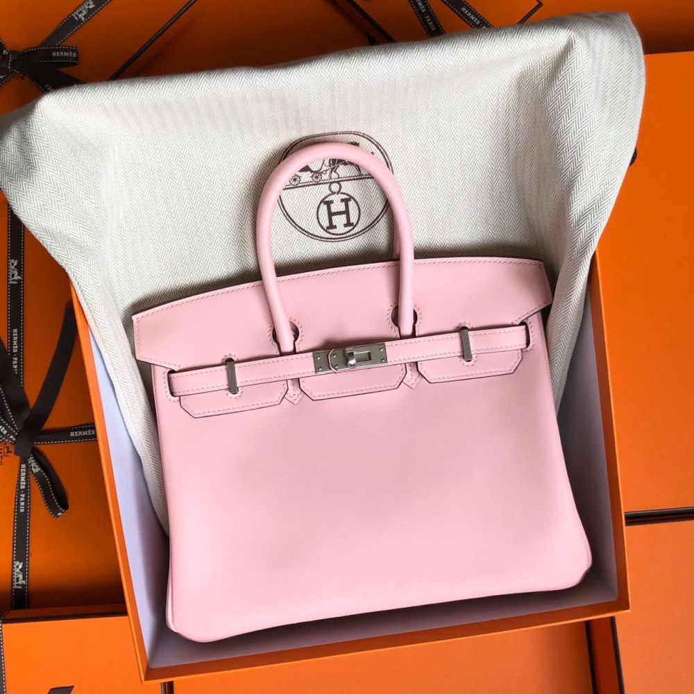 Hermès Birkin 25 Rose Sakura Swift Palladium Hardware PHW