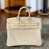 Hermès Birkin 25 Trench Alligator Mississippi Matte Gold Hardware GHW