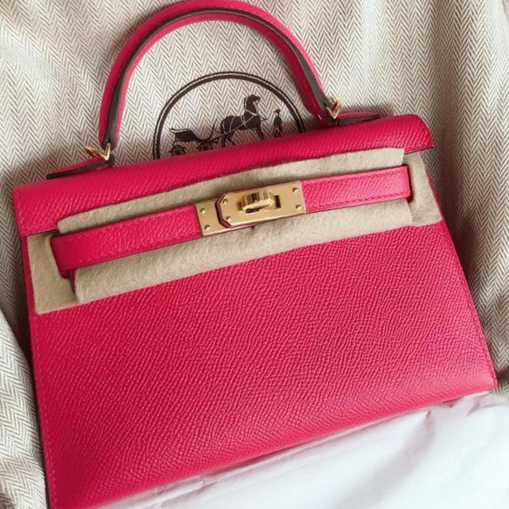 Hermès Kelly 20 Rose Extreme Sellier Epsom Gold Hardware GHW