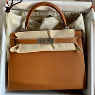 Hermès Kelly 28 Gold Sellier Epsom Palladium Hardware PHW