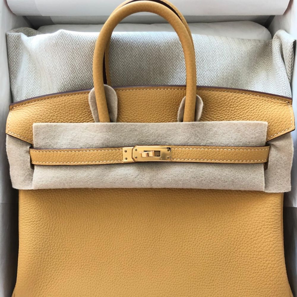 Hermès Birkin 25 Curry Togo Gold Hardware GHW