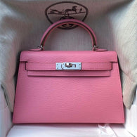 Hermès Kelly 20 Rose Confetti Sellier Chevre Mysore Palladium Hardware PHW