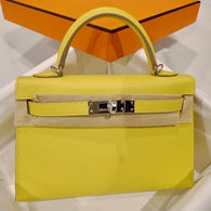 Hermès Kelly 20 Lime Sellier Epsom Palladium Hardware PHW