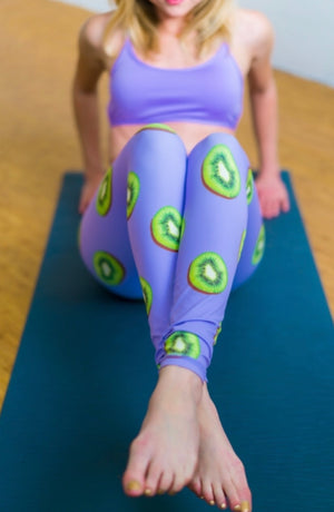 You Hold the Kiwi to My Heart Flexi Yoga Leggings