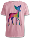 The Deer T-Shirt in White, Pink or Grey Kids 3-8 years