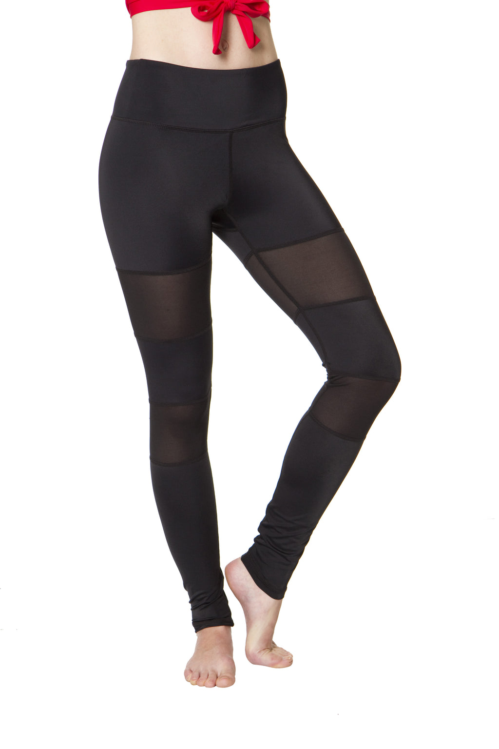 Black Peek-a-boo Flexi Yoga Leggings