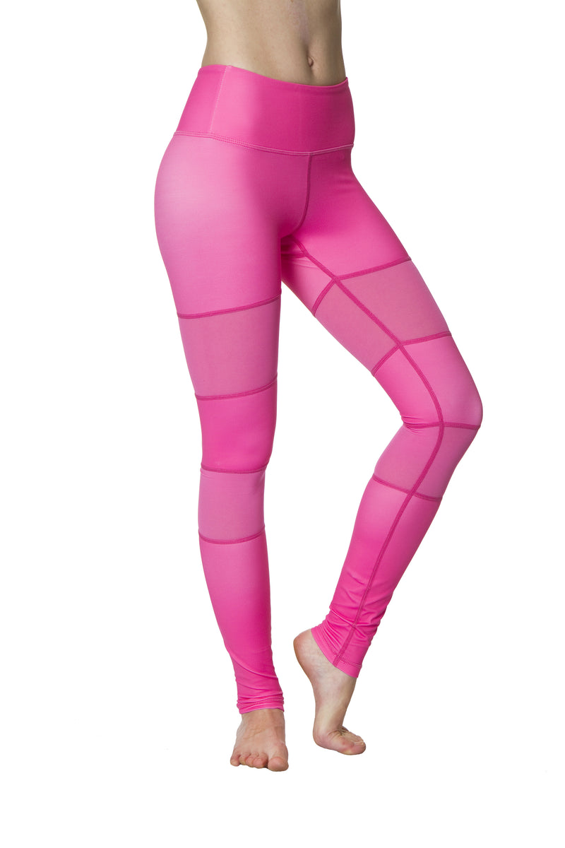 Pink Peek-a-boo Flexi Yoga Leggings