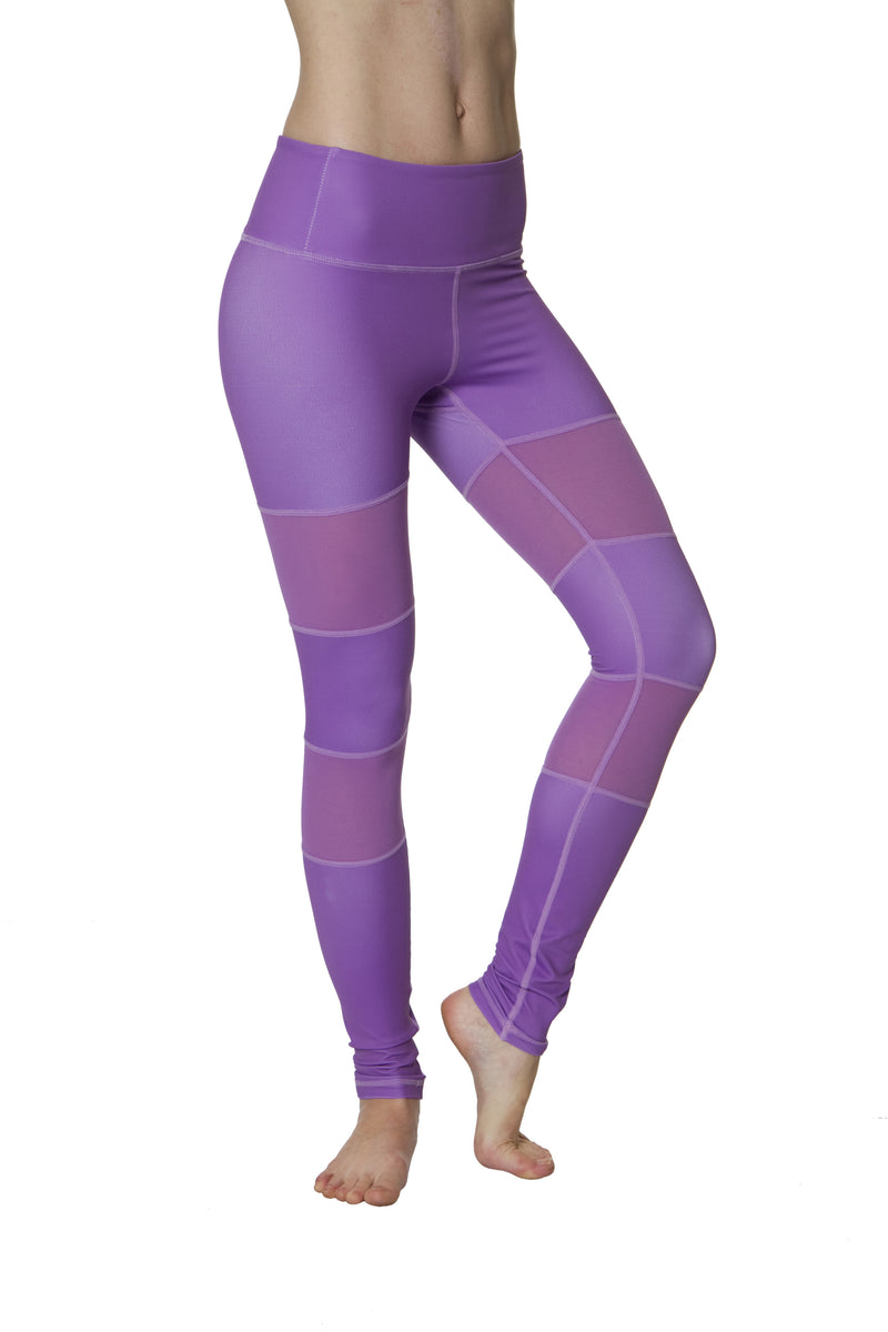 Purple Peek-a-boo Flexi Yoga Leggings