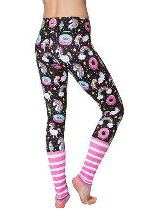 Rainbow and Unicorn Flexi Yoga Leggings