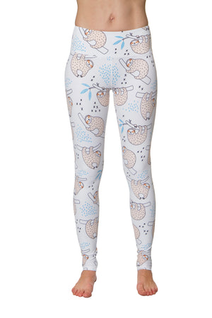 Sloth Is My Middle Name Flexi Yoga Leggings