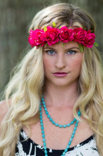 Red Roses Flower Headband