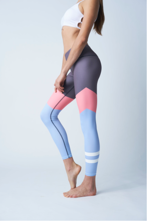 Pretty in Pink and Blue Fash Leggings