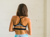 Chic Stripes Flexi Front Zipper Sports Bra