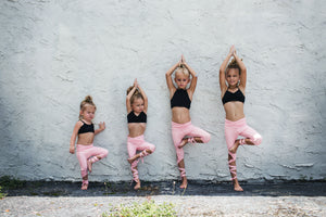 Coral Pink Flexi Dancer Leggings - Kids