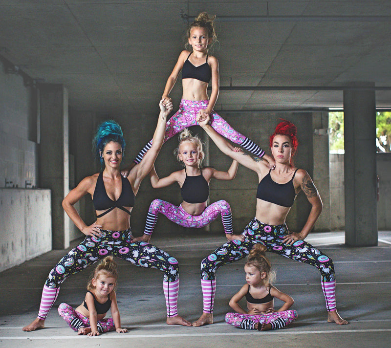 Pink Rainbow and Unicorn Flexi Yoga Leggings - Minis (3-5 years)