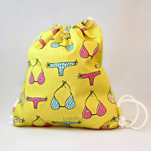 Wet Bag - Yellow with Bikini Design