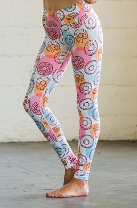 Donut & Coffee Flexi Yoga Leggings