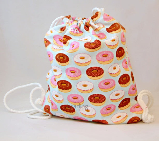 Wet Bag - Pale Blue with Donut Design