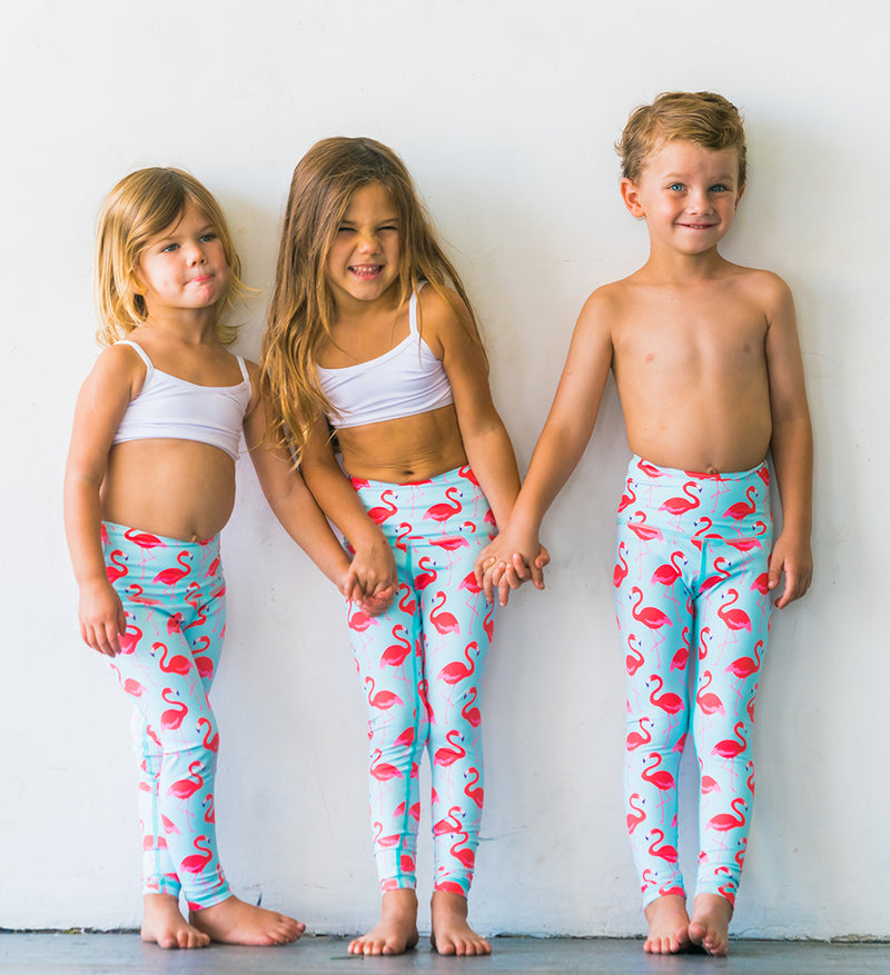 Flamingo Flexi Yoga Leggings - Kids