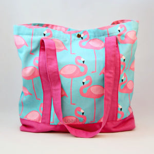 Tote Bag - Pink Flamingo with Pink Strap
