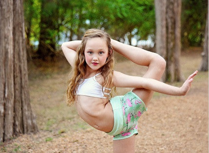 Flexi Jogging Shorts for Kids - Flamingo (for kids and pre-teens)