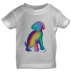 The Doggy T-Shirt in White, Pink or Grey Babies 0-3 years