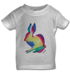 The Rabbit T-Shirt in White, Pink or Grey Babies 0-3 years