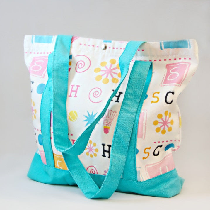 Tote Bag - Hopscotch with Blue Strap