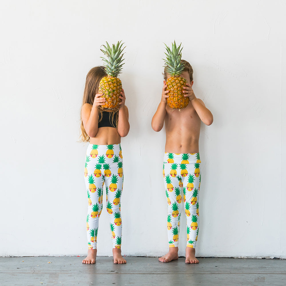 Pineapple Flexi Yoga Leggings - Kids