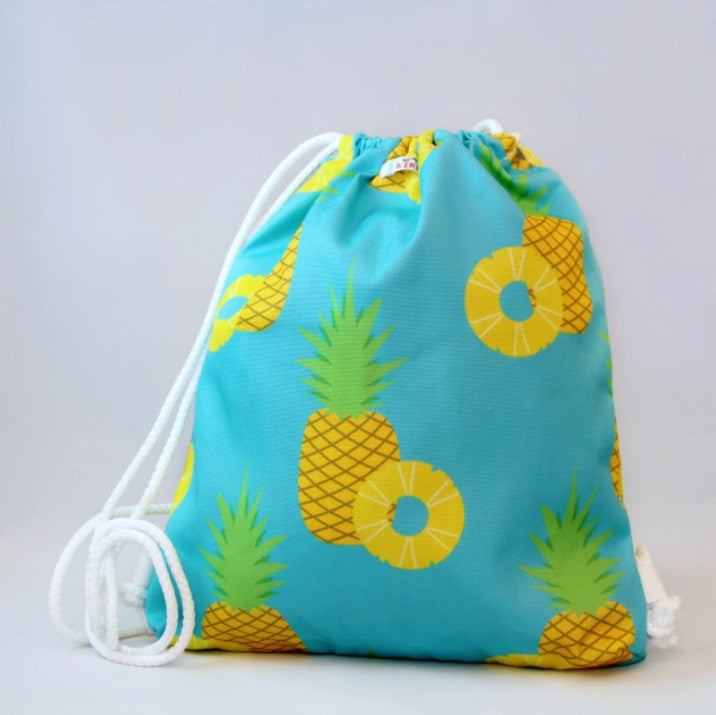 Wet Bag - Blue with Pineapple Design