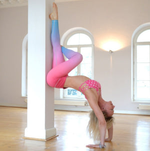 Pink Blue Ombre Flexi Yoga Leggings