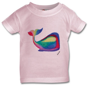 The Whale T-Shirt in White, Pink or Grey Babies 0-3 years