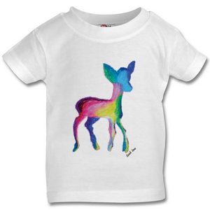 The Deer T-Shirt in White, Pink or Grey Babies 0-3 years