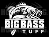 Big Bass Tuff Large Mouth Bass 8 x 7.5 Decal White