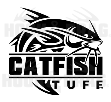 CatFish Tuff 7 x 6.25 Decal Black