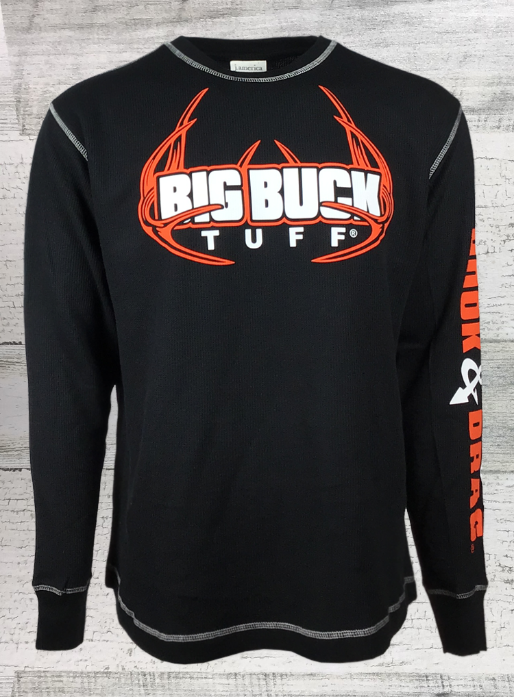 Big Buck Tuff Vintage Long Sleeve Thermal Tee