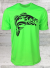 Big Bass Tuff Large Mouth Racer Mesh Short Sleeve Tee