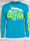 CatFish Tuff Sport-Tek Posi-UV 50 Pro Long Sleeve Tee Neon Yellow - White