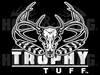 Trophy Tuff  8 x 6 Decal  - White