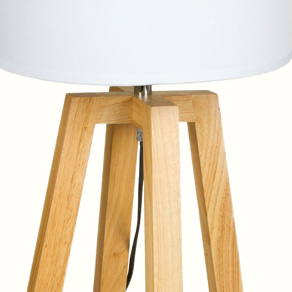 BEECH WOOD TABLE LAMP